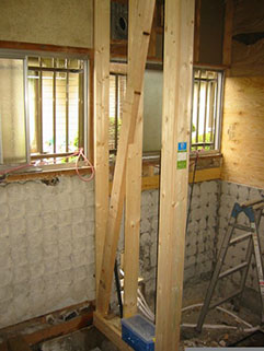 浴室改修と同時に耐震補強